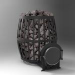 Печь каменка на дровах ПКБ-Бочка 01