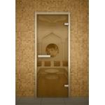 Двери для хамама Aldo 70x200 Бронза