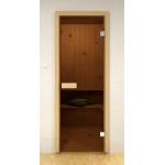 Стандартная дверь для сауны ALDO 80х190 Бронза